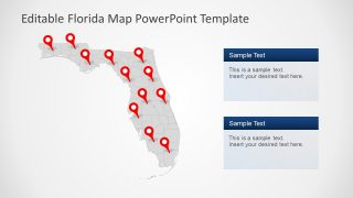 GPS Marker Presentation Florida Map