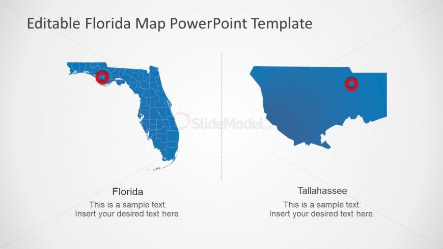 Tallahasse Map Florida Editable