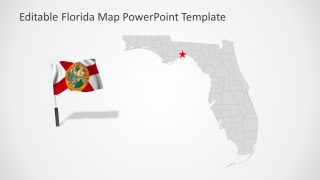 Slide of Florida Editable Map