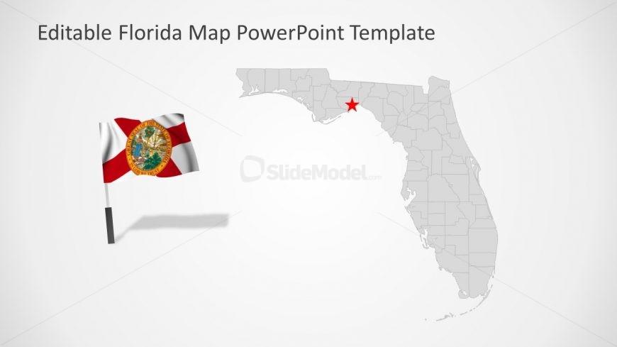 Slide of Florida Editable Map