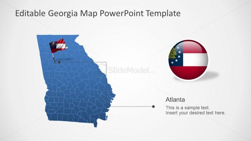 US State Georgia Map Slide