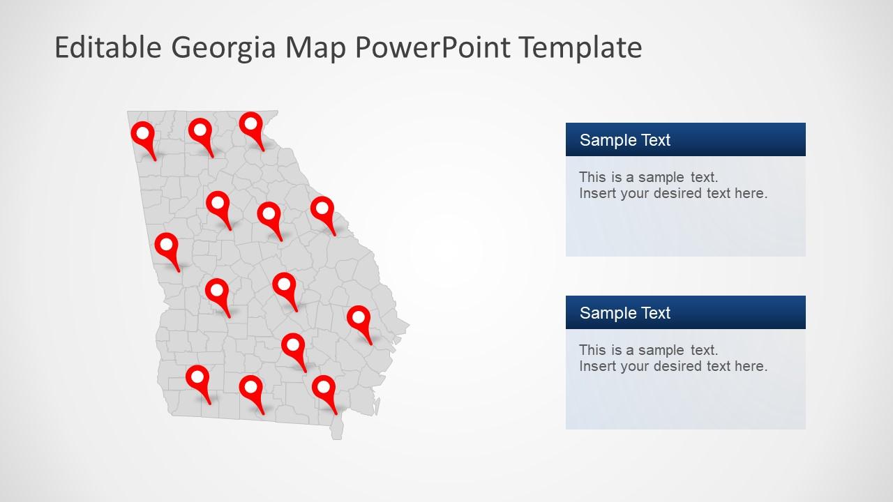Outline Georgia Map Template