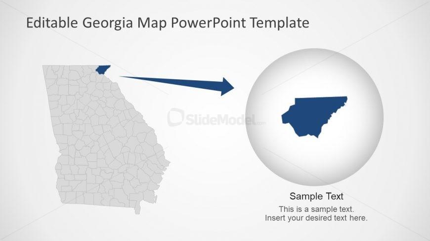 US States Map Template Georgia
