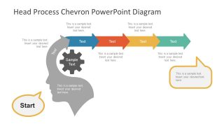 Head Process Chevron PowerPoint Diagram
