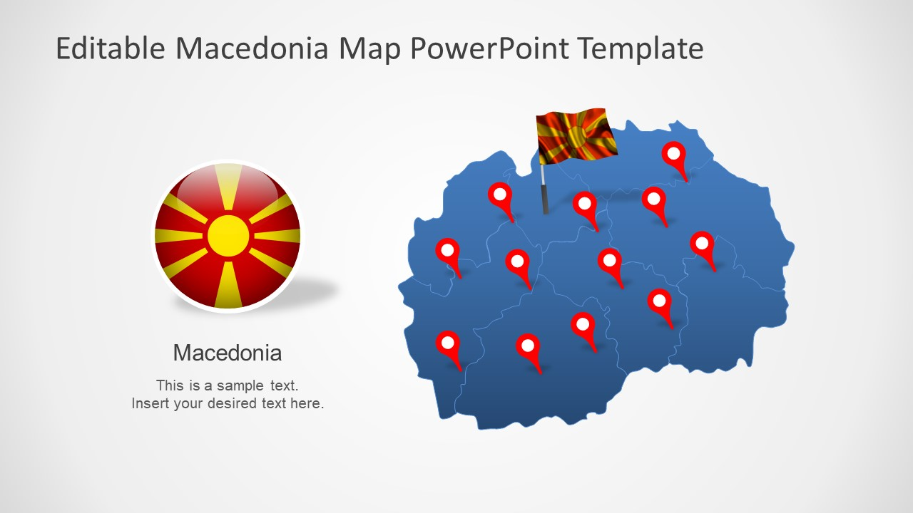 Flag and Editable Map Template