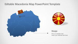 Editable Outline Map of Macedonia