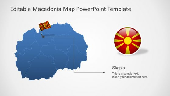 PPT Macedonia Flag Outline Map