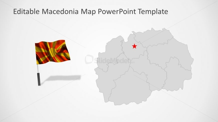 Editable Map and Flag Slide PPT