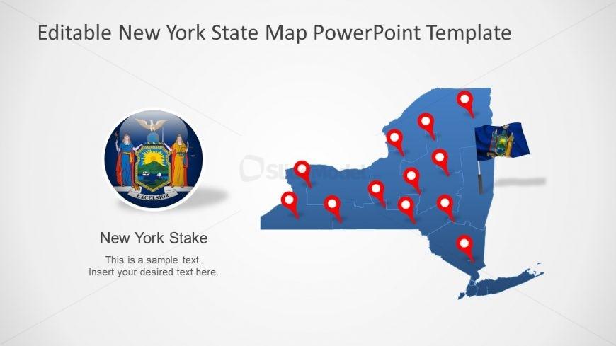 Editable Map Template Design