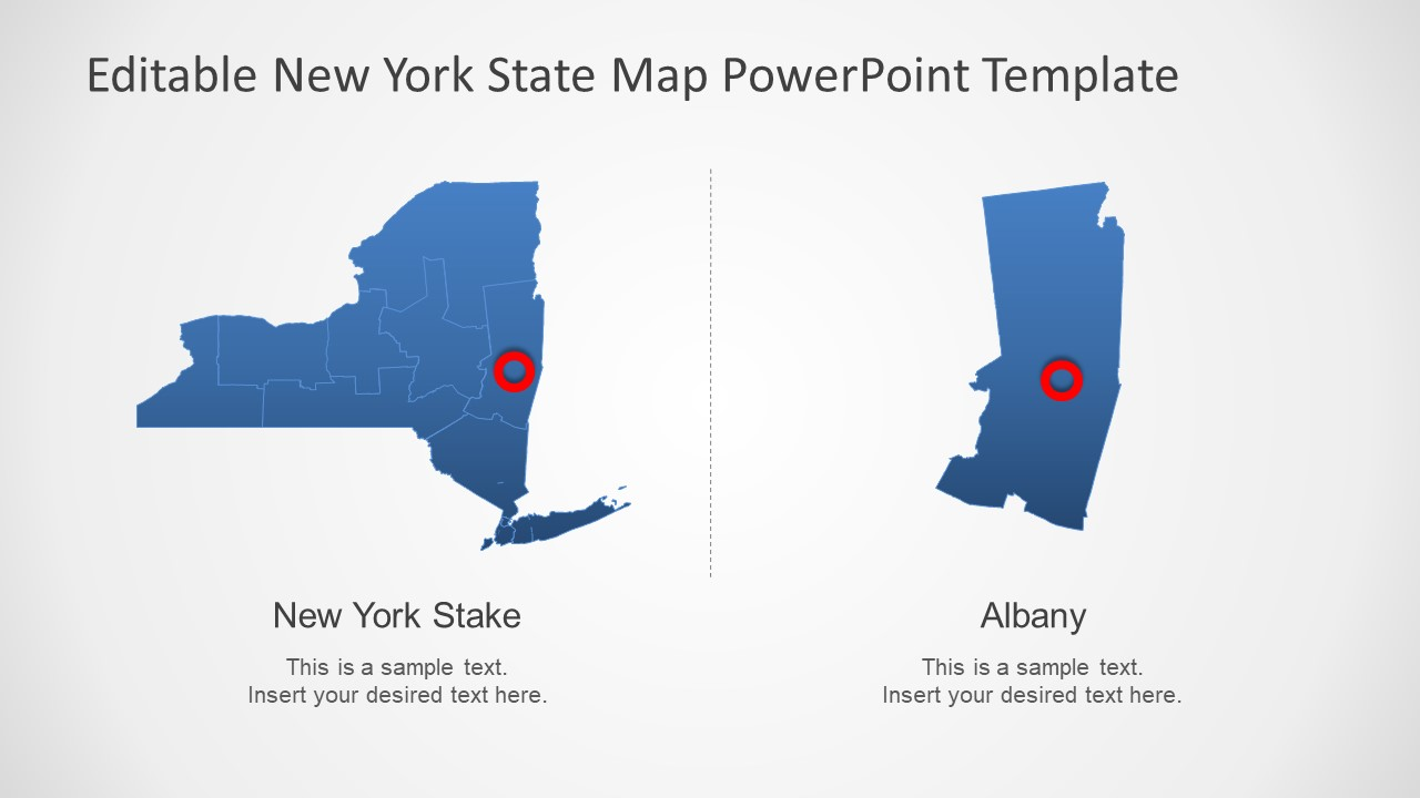 PowerPoint Editable PowerPoint Map