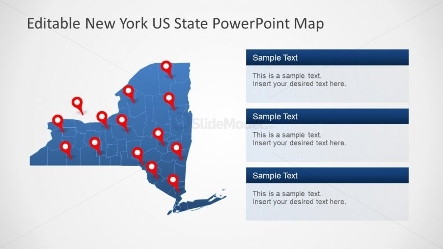 Map PowerPoint Editable State Presentation