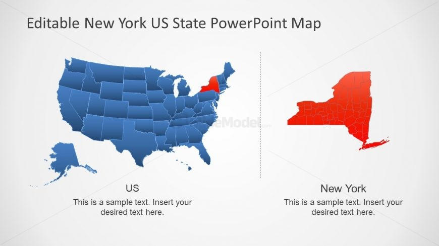 PPT New York and USA Map