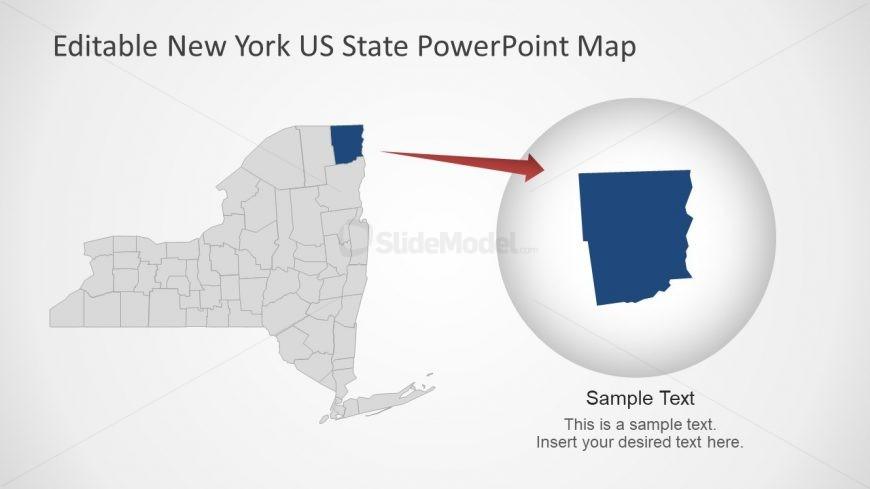 Presentation of NY Map Highlight County