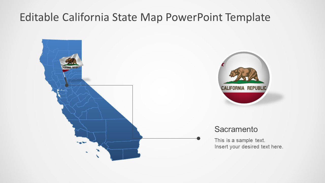 California State PowerPoint Map Template - SlideModel on