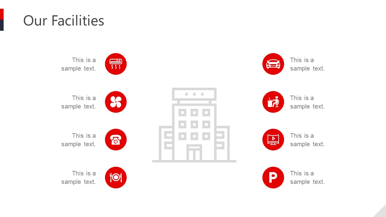 Infographic PowerPoint Slide Facility Icons