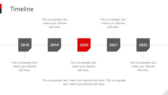 Horizontal Timeline Diagram in PowerPoint