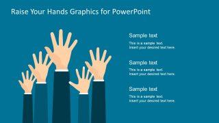 Clipart Template Raising Hand Design