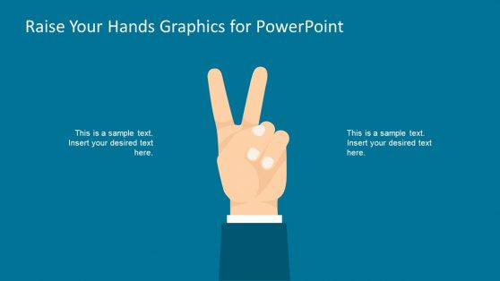 PowerPoint Template of Raising Hands