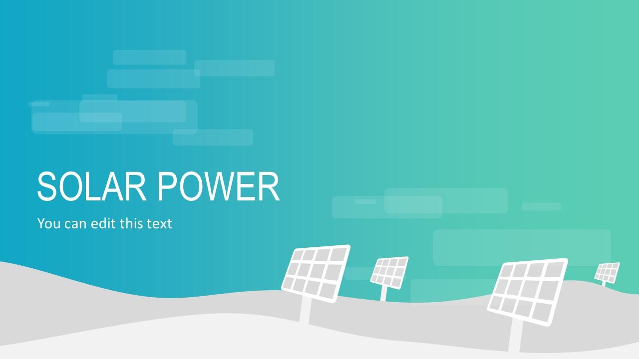 Solar Power Pannels Template
