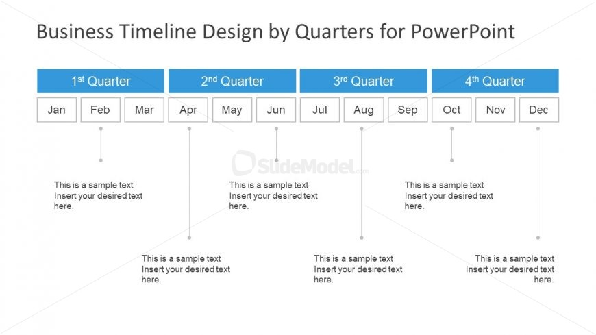 Concept Timeline Yearly progress