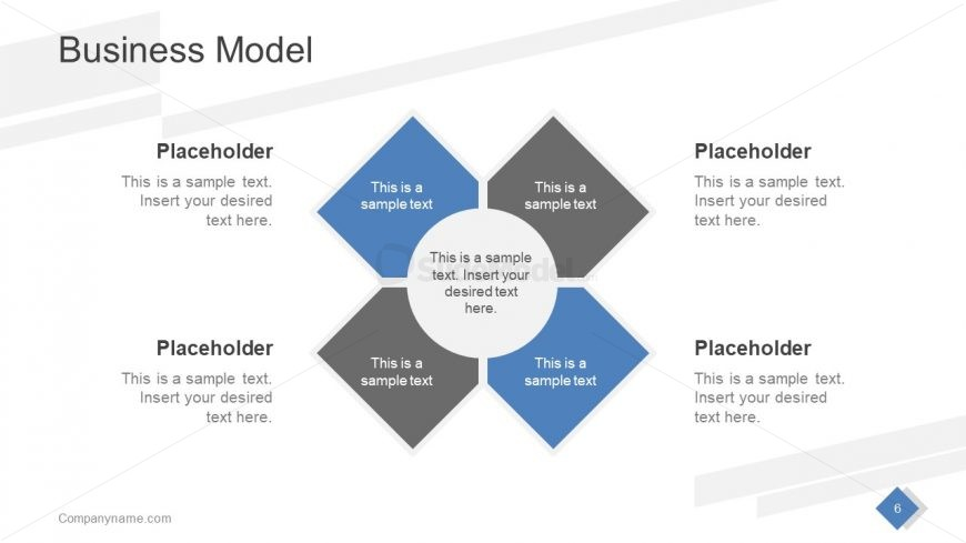 4 Steps Core Diagram PowerPoint
