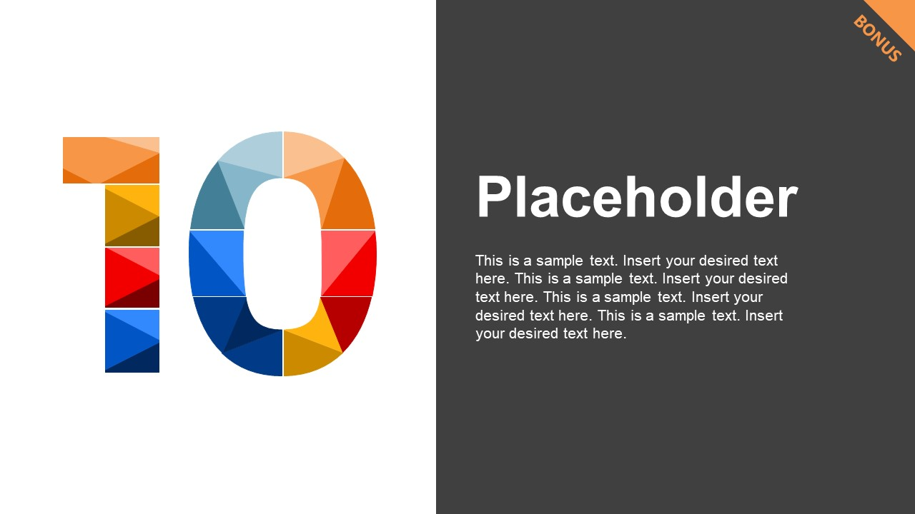 Mosaic PowerPoint Number 10 Divider