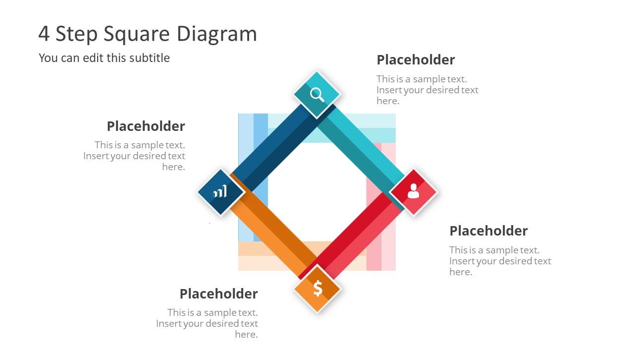 4 Step Square Diagram Design
