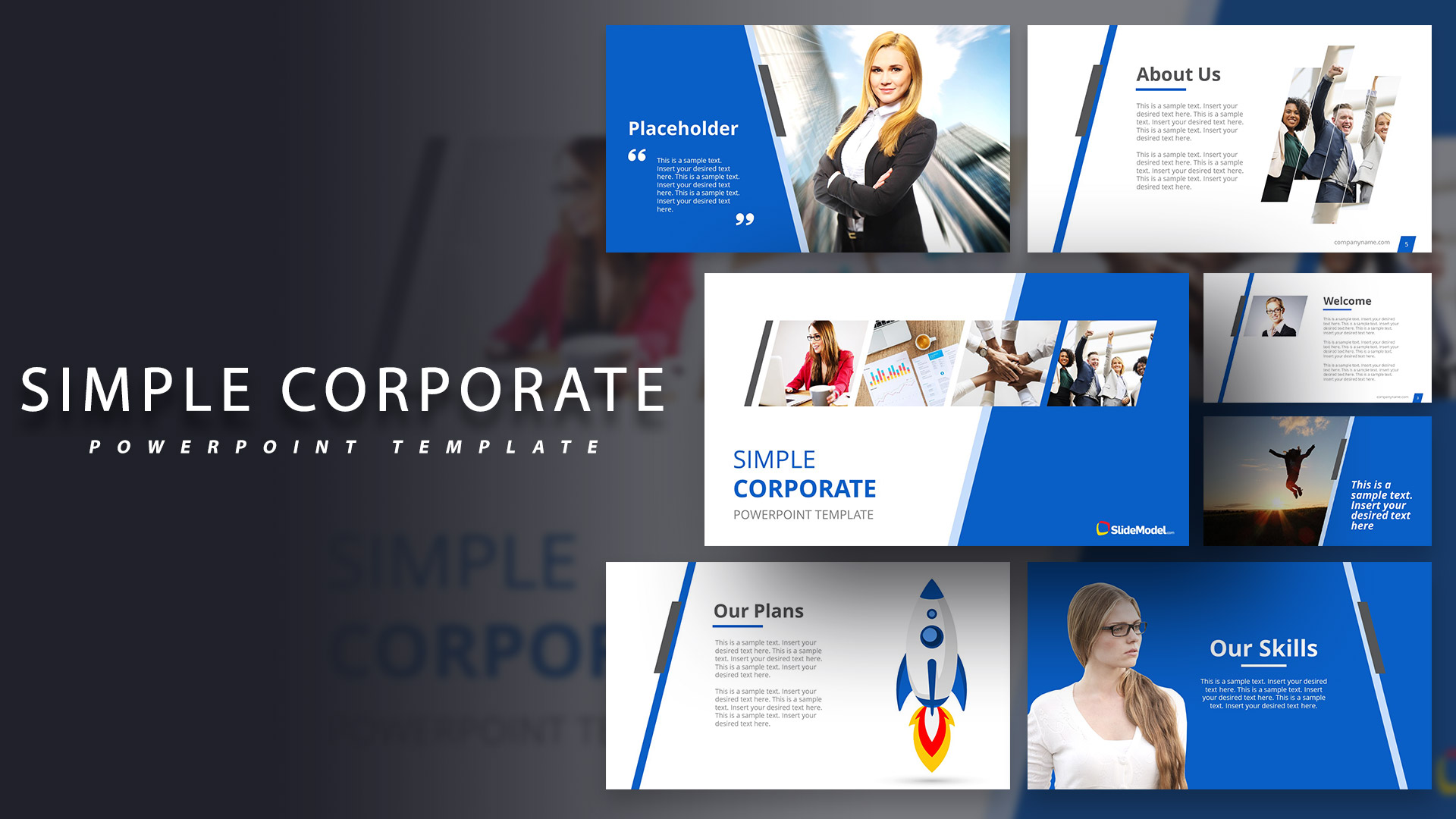 simple corporate powerpoint template