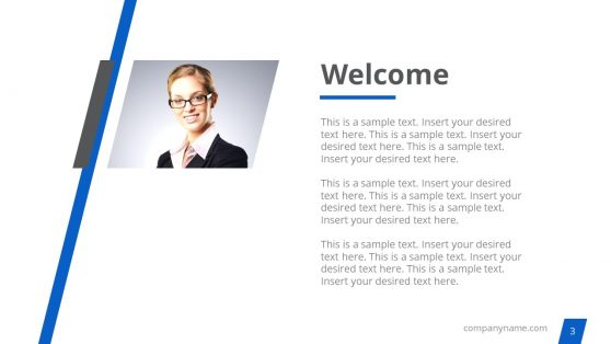 Welcome Slide of Corporate Template