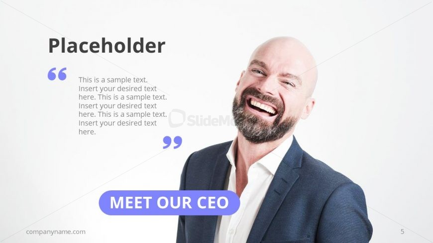 CEO Message Slide Template