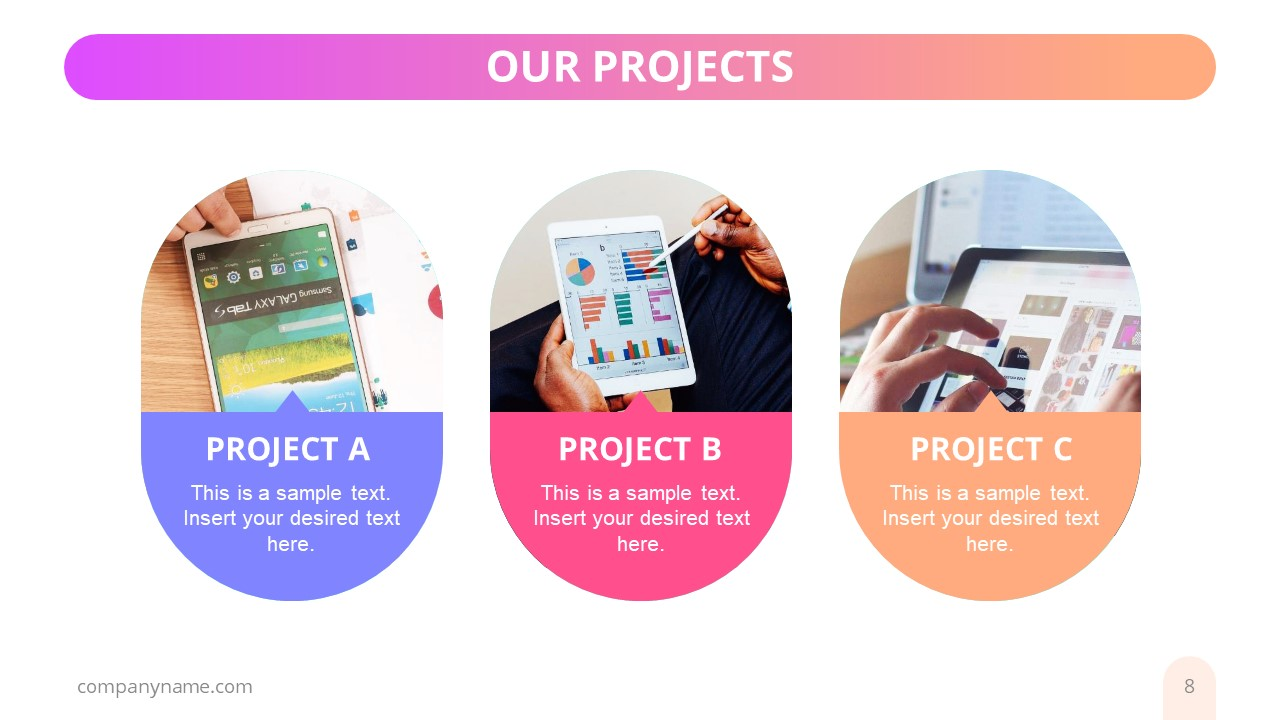 Editable Project Profile Presentation