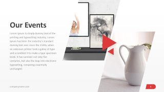 Events Slide PowerPoint Invidia Template
