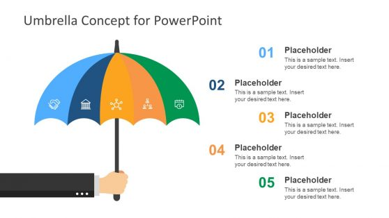 Risk Management PowerPoint Umbrella