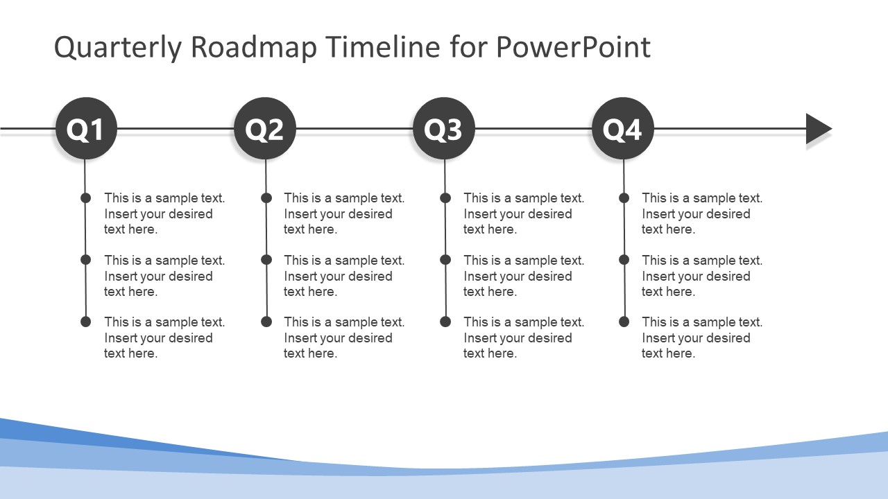 simple quarterly roadmap timeline for powerpoint
