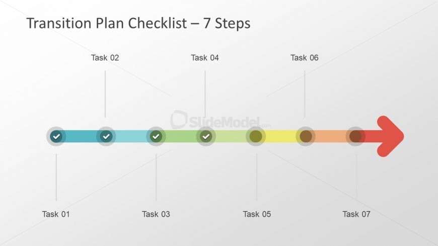 Checklist PowerPoint Horizontal Arrow - SlideModel