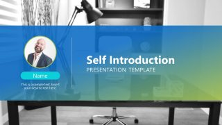 Professional Infographic Self Introduction Layout