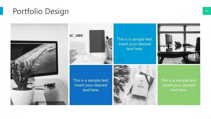 Portfolio Design Layout PowerPoint - SlideModel