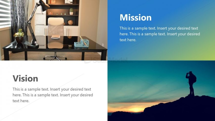 Photos and Text Placeholders Layout for Goals