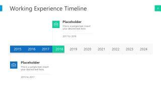 PowerPoint Horizntal Timeline Template