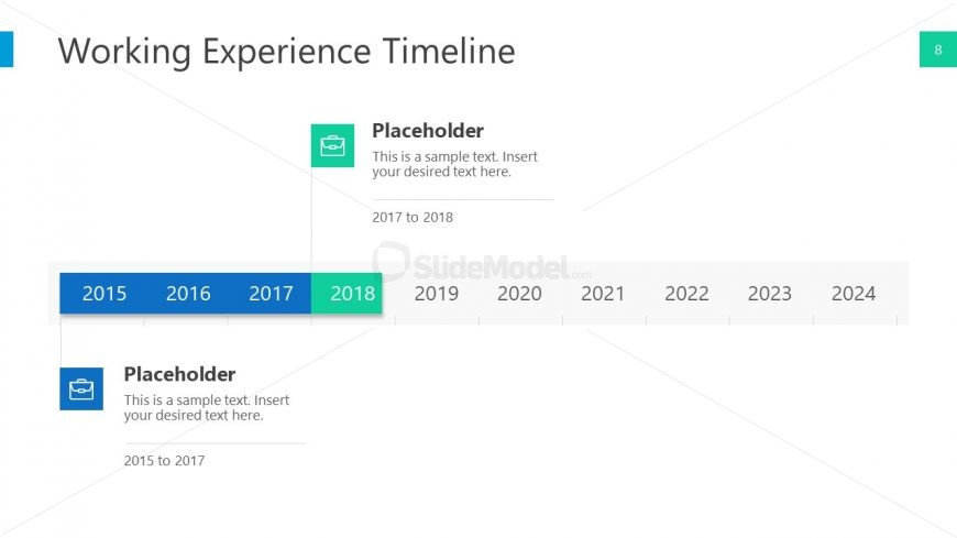 Point Horizntal Timeline Template