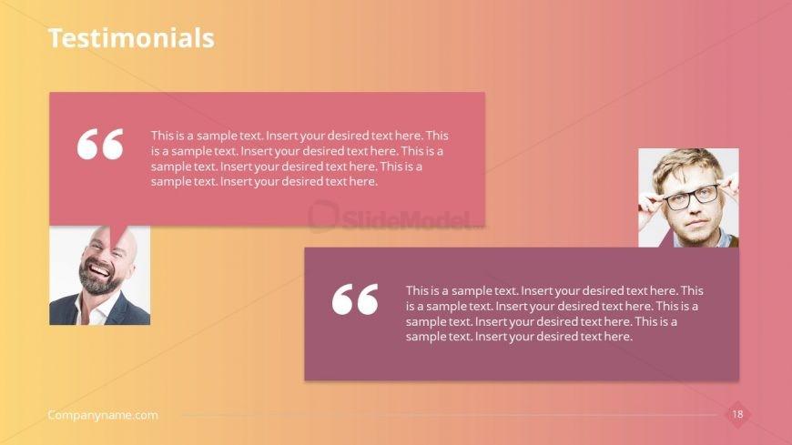 Client Feedback Presentation Format