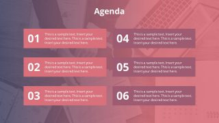 PowerPoint Agenda Bullet List Layout