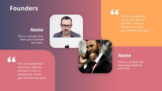 PPT Introduction of Company Founders