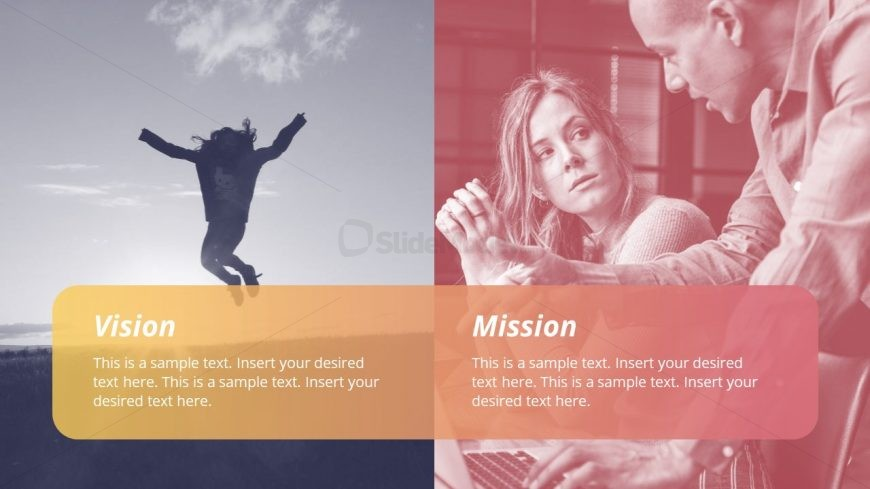 PowerPoint Vision and Mission Photo Background