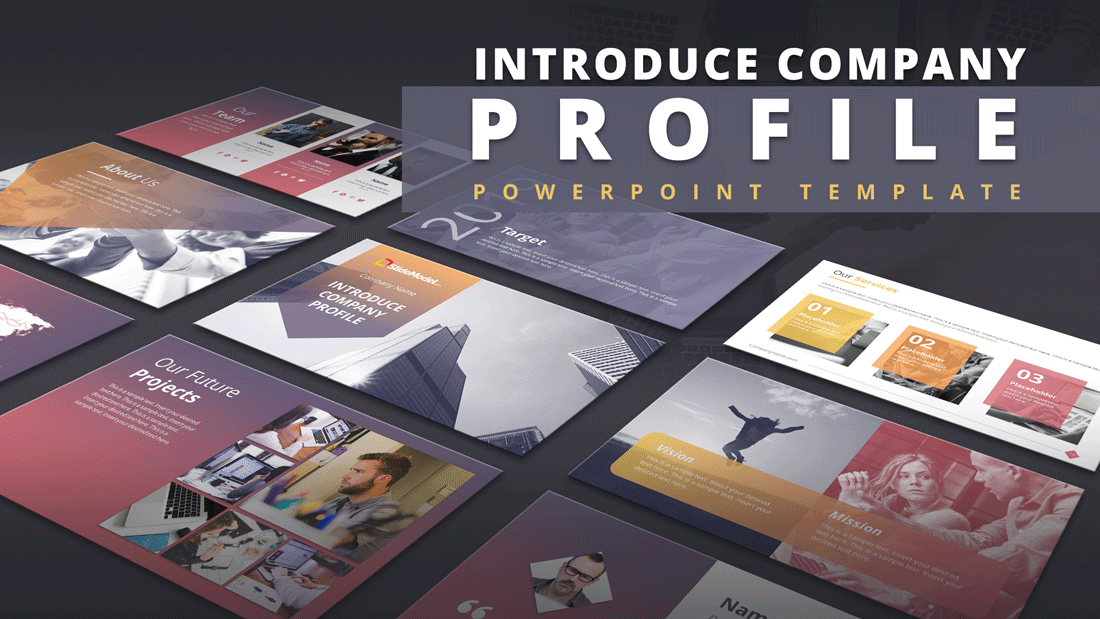 Introduce Company Profile Powerpoint Template Slidemodel
