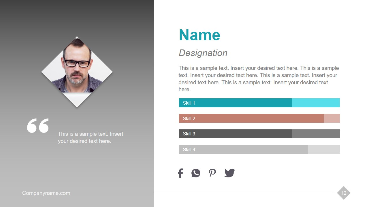 Employee Profile in Company Introduction