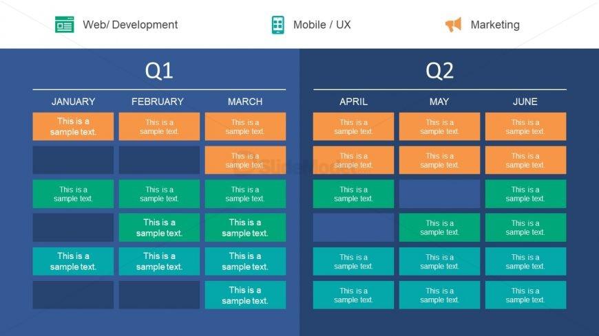 Planning Presentation Quarter Timeline