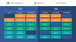 Presentation Timeline for Quarterly Roadmap