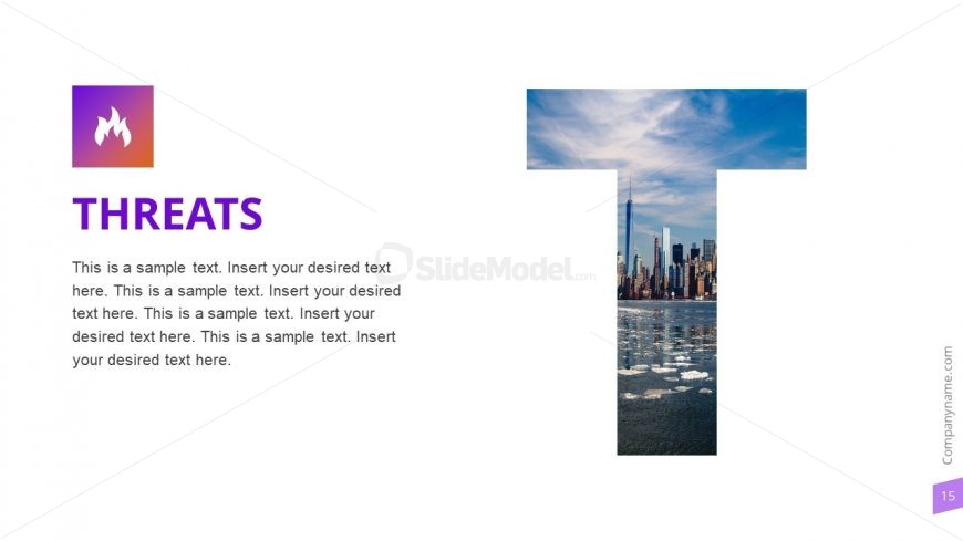 Threats Slide Photo Template