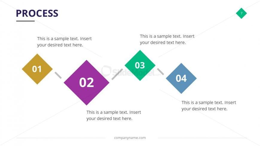 Horizontal PowerPoint Timeline Diagram
